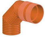 Колено для гофрированных канализационных труб InCor 200х90º