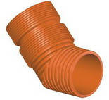 Колено для гофрированных канализационных труб InCor 300х45º