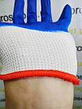 """Перчатки (рукавицы) """"Вампирки"""". Стрейч c латексным покрытием, (оранжевые, синие) 12 пар\упаковка, фото 5"""
