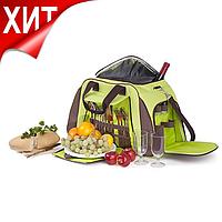 Набор для пикника КЕМПИНГ СA-429 на 4 персоны (термосумка + посуда)