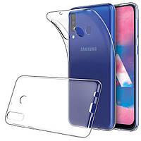 Чехол Case для Samsung Galaxy M30 силиконовый прозрачный