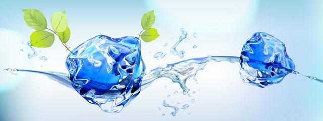 Полив растений талой водой