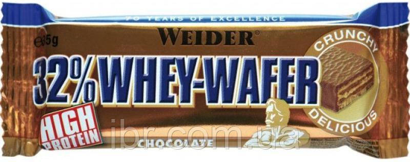Протеїновий батончик WEIDER 32% WHEY-WAFER 35 g Chocolate