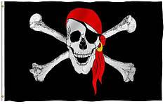 Флаг Весёлый Роджер в красной бандане