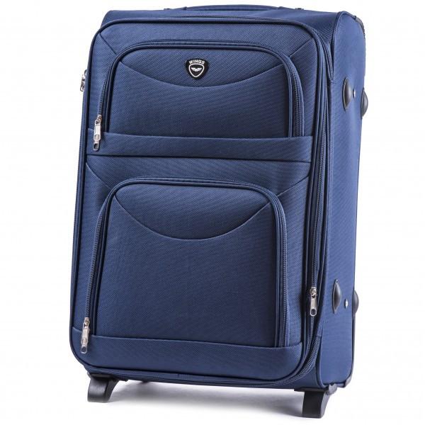 Чемодан дорожный на 2-х колесах Wings 6810 тканевый Средний (M) Синий