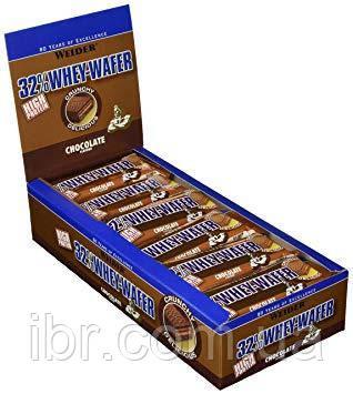 Протеїновий батончик WEIDER 32% WHEY-WAFER 35 g Chocolate 24 шт