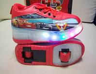Роликовые кроссовки Disney с LED подошвой Детские (32 -34 размеры). Хит 2020. евро качество!