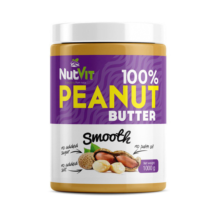 Натуральная арахисовая паста OstroVit 100% Peanut Butter (1 кг) островит