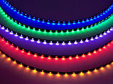 Диодная автомобильная подсветка, лента на самоклейке 1 метр / 40 диодов/ Зеленая, фото 4