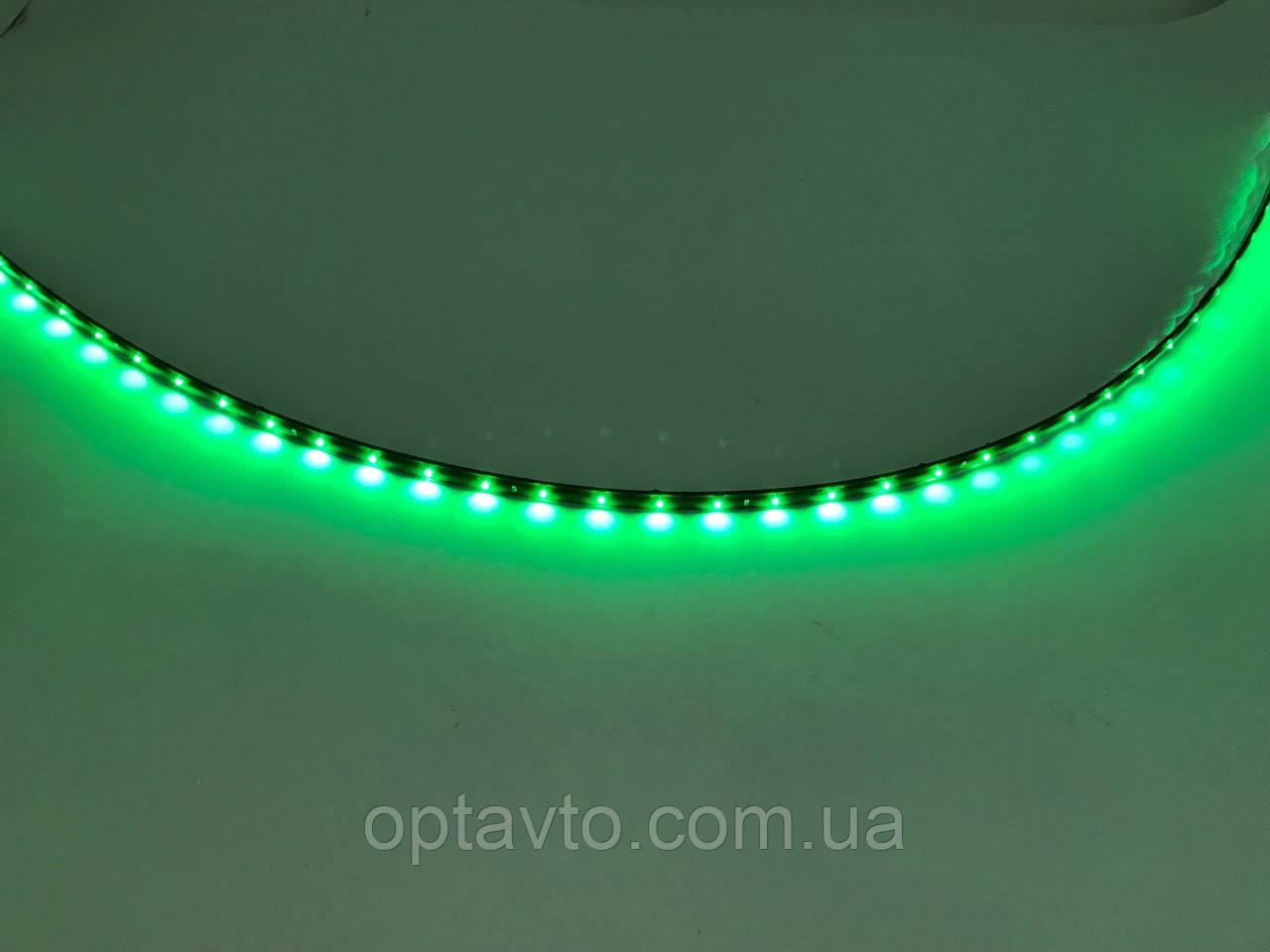 Диодная автомобильная подсветка, лента на самоклейке 1 метр / 40 диодов/ Зеленая