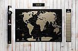 Скретч карта світу My Map Black edition ENG в тубусі + безкоштовний постер з прапорами, фото 2