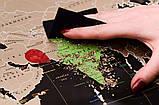Скретч карта світу My Map Black edition ENG в тубусі + безкоштовний постер з прапорами, фото 5