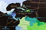 Скретч карта світу My Map Black edition ENG в тубусі + безкоштовний постер з прапорами, фото 6