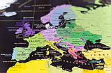 Скретч карта світу My Map Black edition ENG в тубусі + безкоштовний постер з прапорами, фото 7