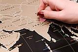 Скретч карта світу My Map Black edition ENG в тубусі + безкоштовний постер з прапорами, фото 3