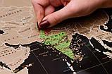 Скретч карта світу My Map Black edition ENG в тубусі + безкоштовний постер з прапорами, фото 4