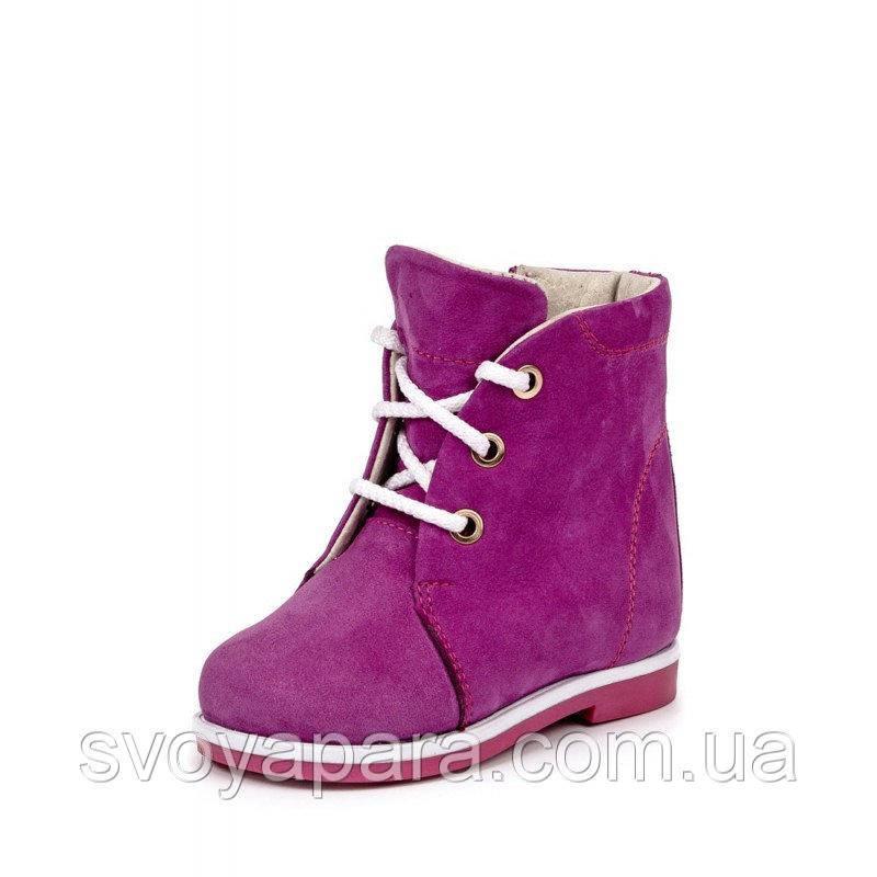 Ботинки весенне-осенние для девочек нубуковые (0360)
