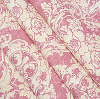 """Декоративная ткань Панама """"Алхамбре вензель розовый"""", фото 1"""