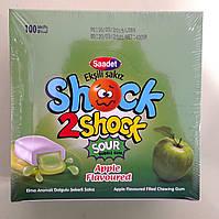 Жувальна гумка Shock2Shock яблуко 100 штук, фото 1