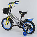 """Велосипед 14"""" дюймов 2-х колёсный R - 14687 """"CORSO"""" (1) ручной тормоз, звоночек, сидение с ручкой, доп. колеса, фото 2"""