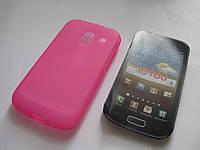 Чехол силиконовый Samsung Galaxy Ace II I8160 Onyx розовый