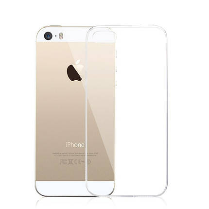 Чехол прозрачный TPU Case для Apple iPhone 5/5s/SE Transparent, фото 2
