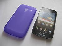 Чехол силиконовый Samsung Galaxy Ace II I8160 Onyx фиолетовый