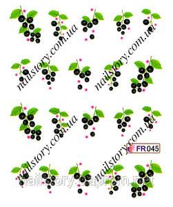 Водные наклейки для ногтей FR045