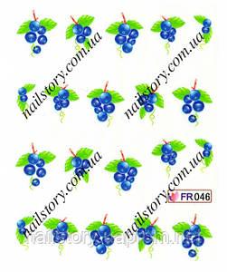 Водные наклейки для ногтей FR046