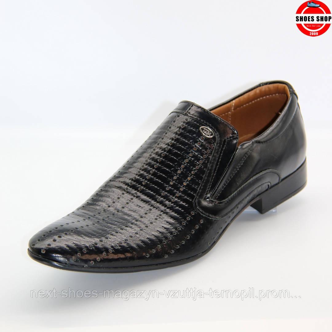 Чоловічі туфлі TAPI (Польща) чорного кольору. Зручні та красиві. Стиль - Дэвід Бекхэм