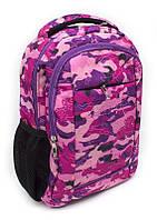 Рюкзак ученический California S, розовый, камуфляж
