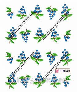 Водные наклейки для ногтей FR049