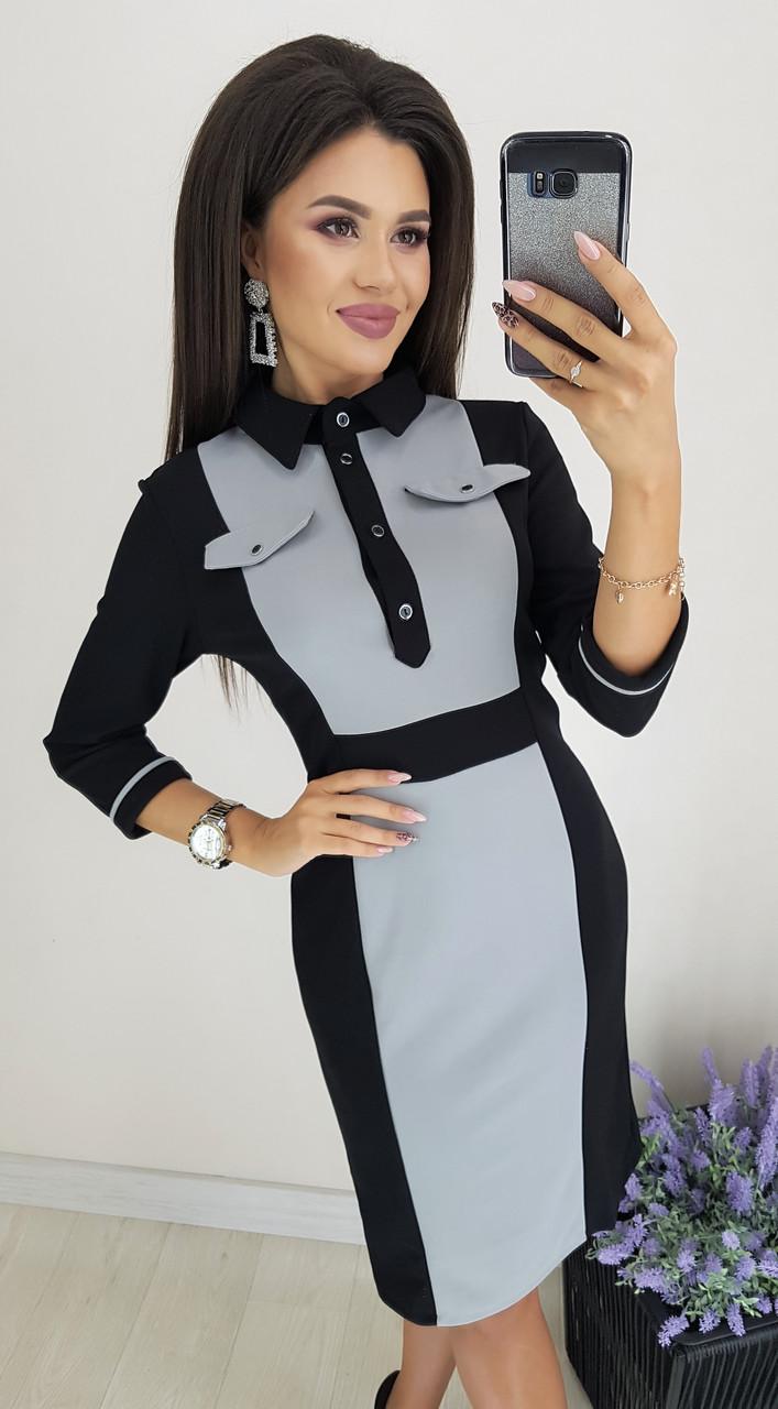 Элегантное платье-футляр в офисном стиле