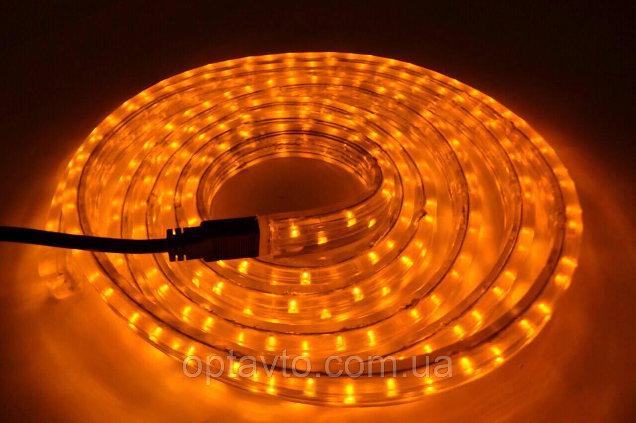 Диодная лента в силиконе 3 метра с мощными лэд лампочками 12 / 24 вольт Желтый