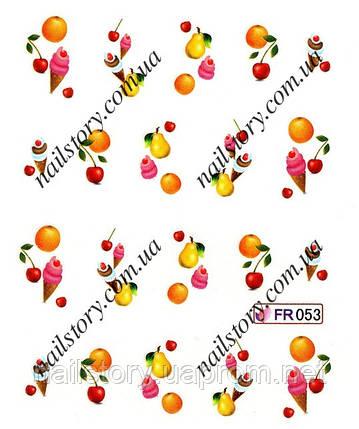Водные наклейки для ногтей FR053, фото 2