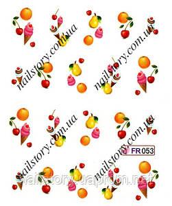 Водные наклейки для ногтей FR053