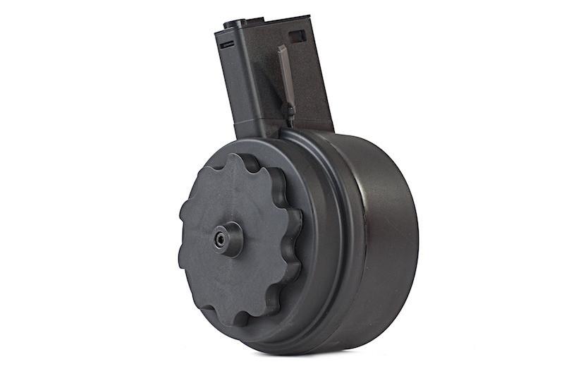 Электро-бункерный магазин Attack Type 1500 шаров для приводов M4/M16 - BLACK (для страйкбола)