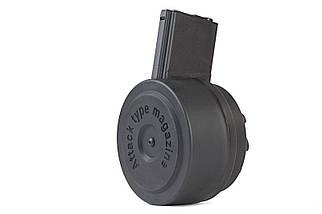 Электро-бункерный магазин Attack Type 1500 шаров для приводов M4/M16 - BLACK (для страйкбола), фото 2
