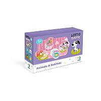 Детская настольная игра Лото «Животные и среда их обитания» 300196 Dodo