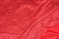 Ткань Ангора софт трикотажная, цвет красный, пог. м., фото 1