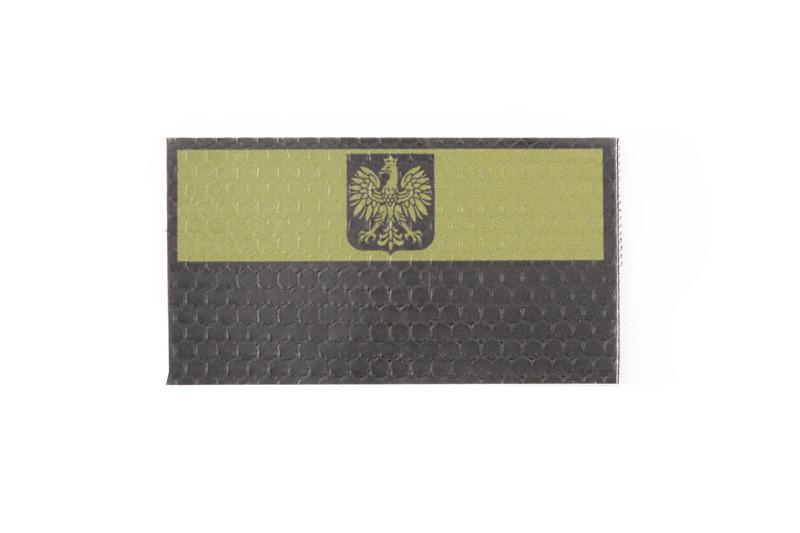 Нашивка IR - Flaga Polski z godłem - OD [Combat-ID]