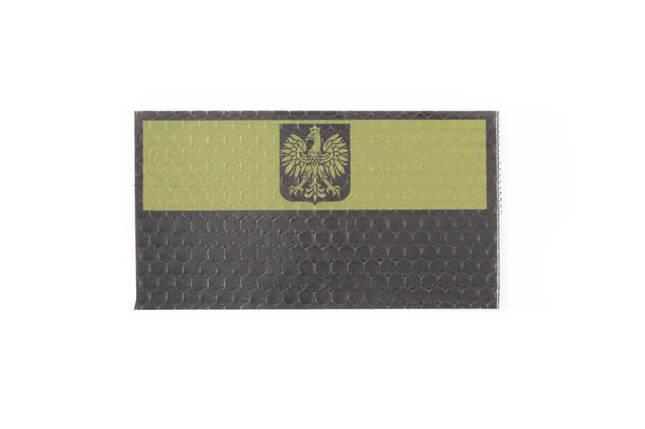 Нашивка IR - Flaga Polski z godłem - OD [Combat-ID], фото 2