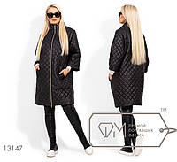 Модное женское пальто демисезонное с рукавами 3\4, размеры 42, 44, 46