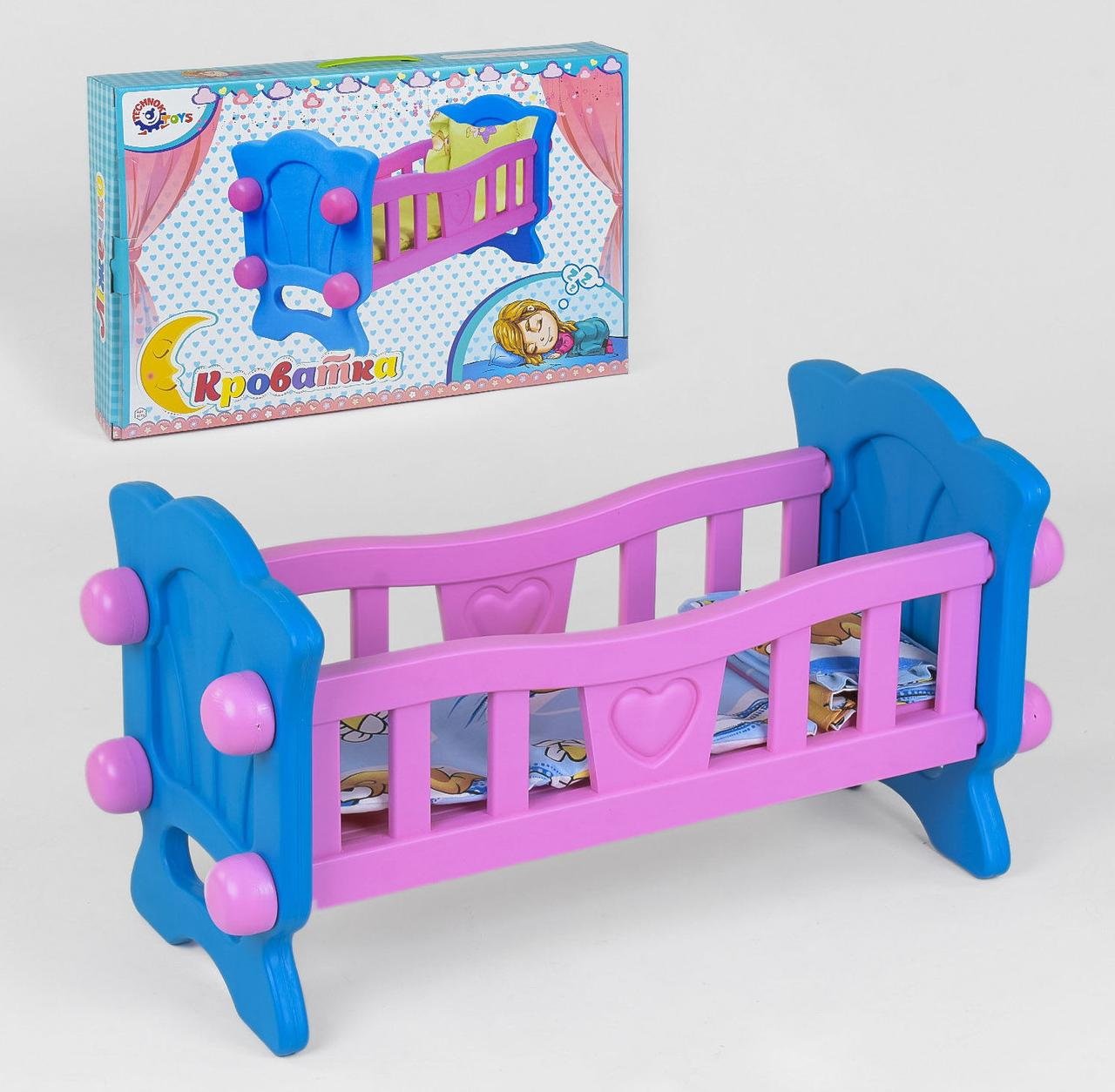 "Кроватка для куклы 4773 (4) ""ТЕХНОК"", в коробке"