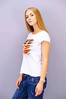 Кьяра. Молодежная женская футболка. Белый.(Р)., фото 1