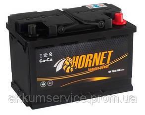 Аккумулятор автомобильный HORNET 75AH R+ 750A