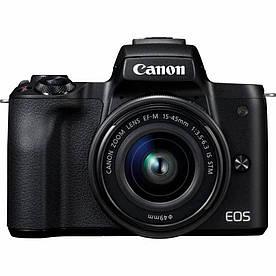 Бездзеркальний фотоапарат Canon EOS M50 kit (15-45mm) IS STM Black