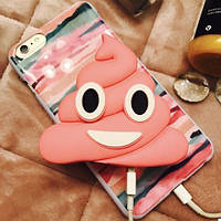 Портативная Батарея Эмоции Какашка (Розовый), фото 1