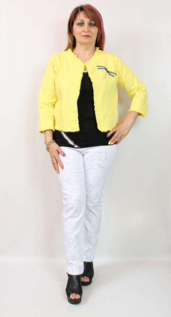 Турецкий укороченный женский летний пиджак, 50-58