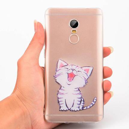 """Панель накладка Прозрачная TPU Case для Apple iPhone 6/6S с принтом """"Котенок"""", фото 2"""
